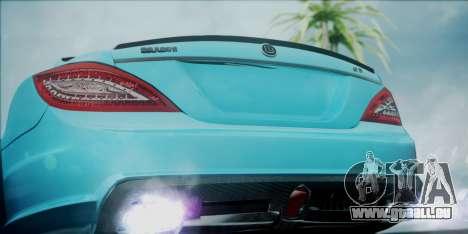 Mercedes-Benz CLS 63 BRABUS für GTA San Andreas Rückansicht