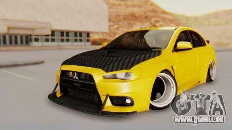 Mitsubishi Lancer Evolution X Stance für GTA San Andreas