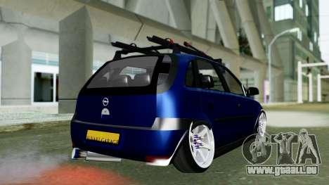 Opel Corsa C pour GTA San Andreas laissé vue