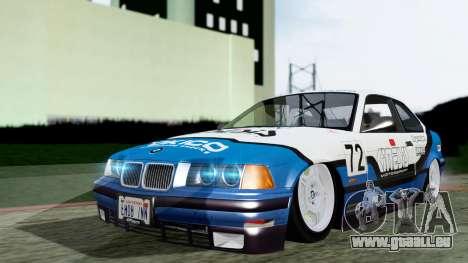 BMW M3 Coupe E36 (320i) 1997 pour GTA San Andreas vue de côté