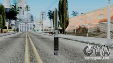 CoD Black Ops 2 - Balistic Knife pour GTA San Andreas deuxième écran