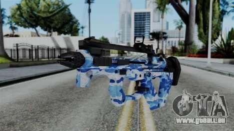 CoD Black Ops 2 - PDW-57 Camo Blue für GTA San Andreas
