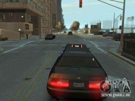 Taxi STRECH pour GTA 4 Vue arrière de la gauche