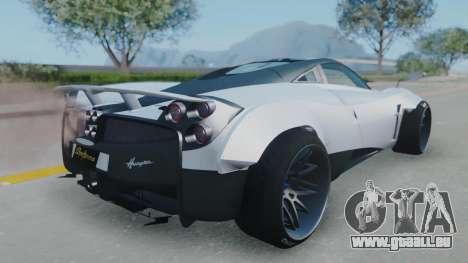 Pagani Huayra LB Performance pour GTA San Andreas laissé vue