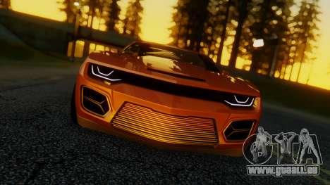 Chevrolet Camaro DOSH Tuning v2 für GTA San Andreas zurück linke Ansicht