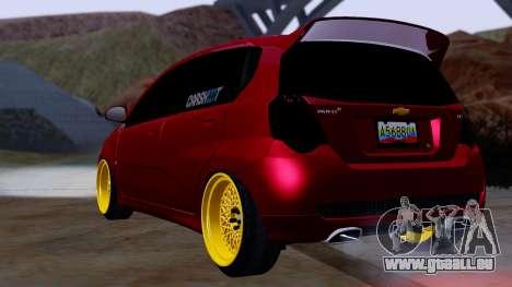 Chevrolet Aveo Stance pour GTA San Andreas laissé vue