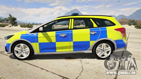 2015 Police Ford Focus ST Estate pour GTA 5