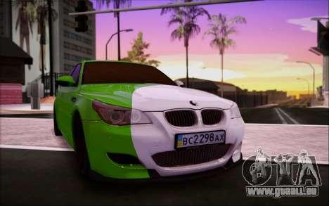 BMW m5 e60 Verdura pour GTA San Andreas vue intérieure
