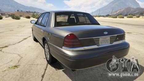 GTA 5 Ford Crown Victoria Detective hinten links Seitenansicht