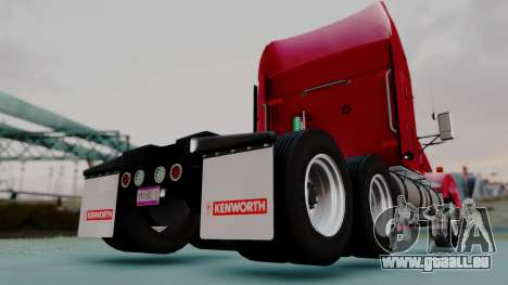 Kenworth T800 38s Austero Flat Top für GTA San Andreas zurück linke Ansicht