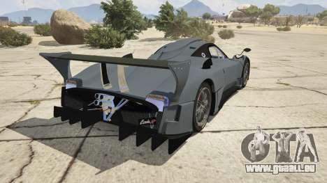 GTA 5 Pagani Zonda R v1.0 hinten links Seitenansicht