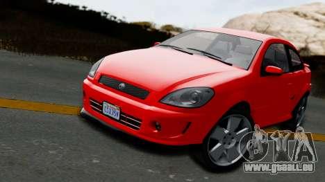 GTA 5 Declasse Premier Coupe IVF für GTA San Andreas zurück linke Ansicht