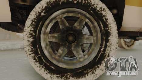 GTA 4 Declasse Rancher IVF pour GTA San Andreas sur la vue arrière gauche