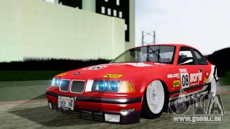 BMW M3 Coupe E36 (320i) 1997 pour GTA San Andreas vue de droite