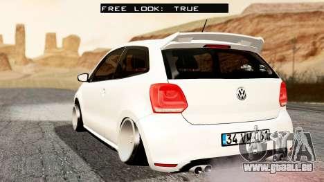 Volkswagen Polo GTI pour GTA San Andreas laissé vue