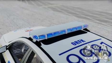 BMW M5 F10 Hungarian Police Car pour GTA San Andreas sur la vue arrière gauche