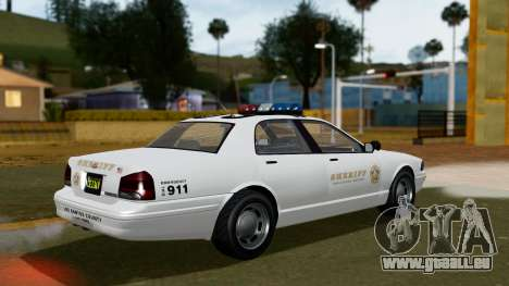 GTA 5 Vapid Stanier II Sheriff Cruiser pour GTA San Andreas laissé vue