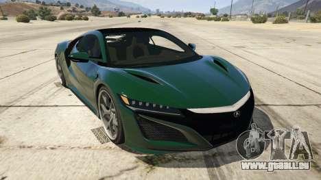 Acura NSX 2015 für GTA 5