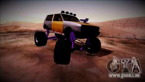 Club Monster Truck pour GTA San Andreas sur la vue arrière gauche