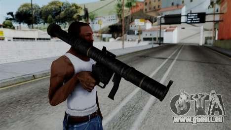 CoD Black Ops 2 - SMAW pour GTA San Andreas troisième écran
