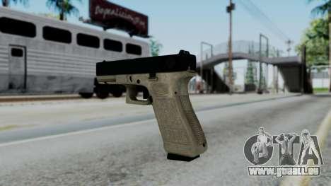 Glock 18 Sand Frame für GTA San Andreas zweiten Screenshot