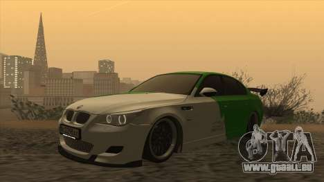 BMW m5 e60 Verdura pour GTA San Andreas laissé vue