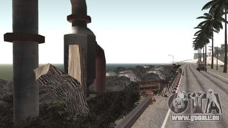 Route de réparation-Les Saints - Les entreprises pour GTA San Andreas troisième écran