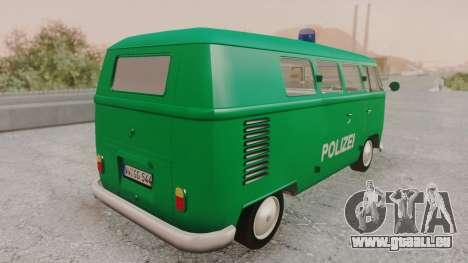 Volkswagen T1 Polizei für GTA San Andreas linke Ansicht