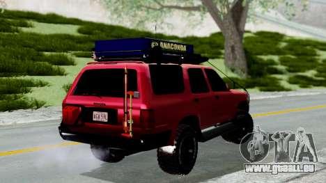Toyota 4Runner 1995 Offroad pour GTA San Andreas laissé vue