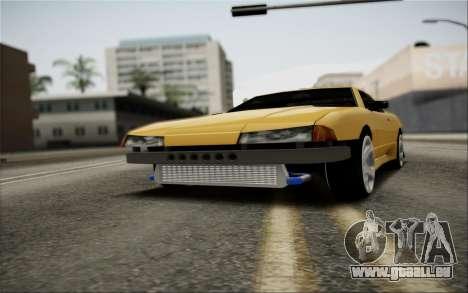 Elegy Speedhunters pour GTA San Andreas vue de dessus