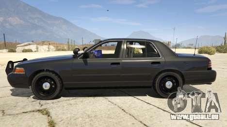 GTA 5 FBI Ford CVPI linke Seitenansicht
