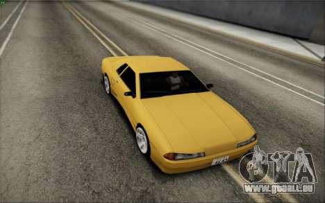 Elegy Speedhunters pour GTA San Andreas sur la vue arrière gauche