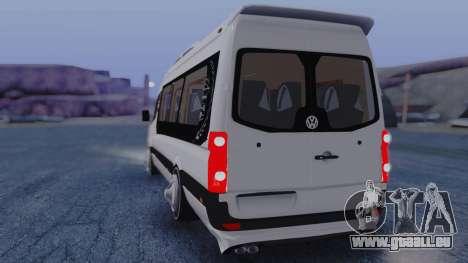 Volkswagen Crafter 2015 pour GTA San Andreas sur la vue arrière gauche