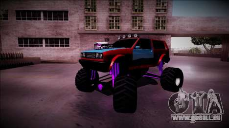 Club Monster Truck pour GTA San Andreas vue de dessous