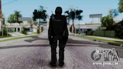 Black SWAT pour GTA San Andreas troisième écran