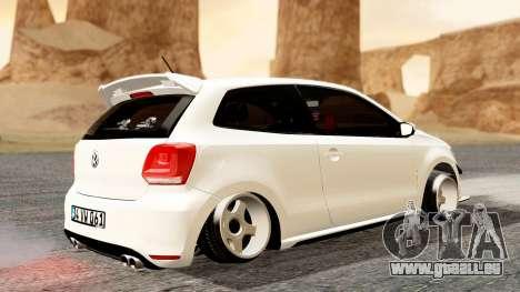 Volkswagen Polo GTI pour GTA San Andreas sur la vue arrière gauche