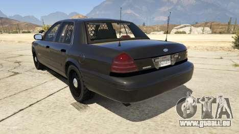 GTA 5 FBI Ford CVPI hinten links Seitenansicht
