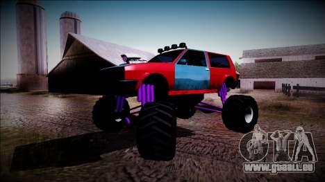 Club Monster Truck für GTA San Andreas Seitenansicht