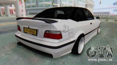BMW 320i E36 MPower für GTA San Andreas linke Ansicht