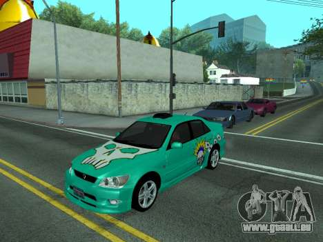 Toyota Altezza Tunable für GTA San Andreas zurück linke Ansicht