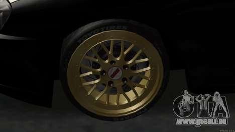 Toyota Supra Mid Night für GTA San Andreas Rückansicht