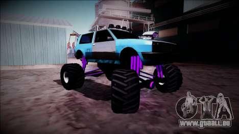 Club Monster Truck für GTA San Andreas Rückansicht