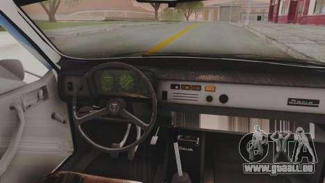 Dacia 1310 TX 1984 pour GTA San Andreas vue arrière
