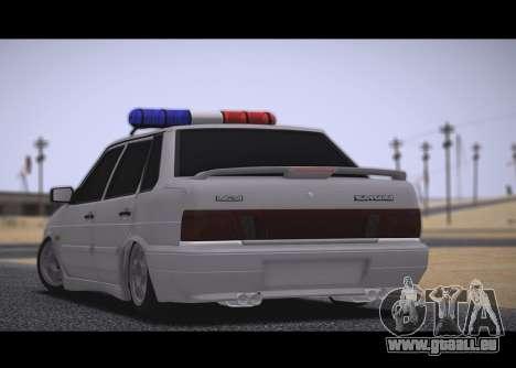 VAZ 2115 Hobo pour GTA San Andreas sur la vue arrière gauche