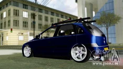 Opel Corsa C pour GTA San Andreas sur la vue arrière gauche