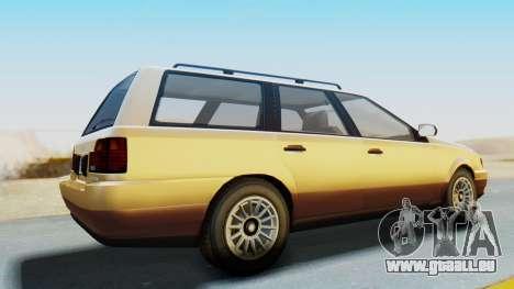 GTA 5 Vulcar Ingot pour GTA San Andreas sur la vue arrière gauche