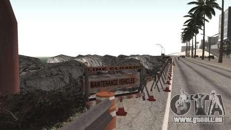 Route de réparation-Les Saints - Les entreprises pour GTA San Andreas cinquième écran