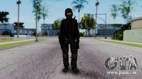 Black SWAT pour GTA San Andreas deuxième écran