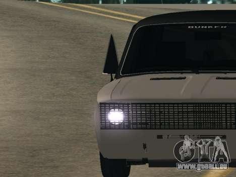 VAZ 2106 BUNKER pour GTA San Andreas sur la vue arrière gauche