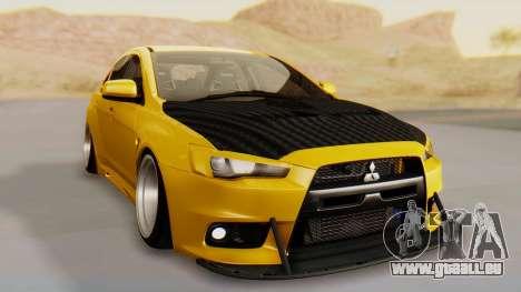 Mitsubishi Lancer Evolution X Stance für GTA San Andreas rechten Ansicht